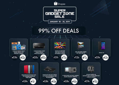 Shopee brings back Super Gadget Zone Sale with up to 99% off on popular gadgets like Phones, HD TVs, Action Cameras and more