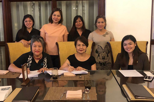 UPMG inks contract with Manila Hotel as venue of Dance-for-a-Cause