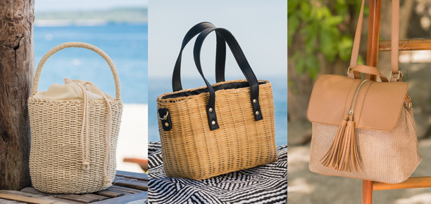 Bring summer anywhere with these woven bags