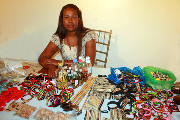 A female Aeta from Guimaras shows some of the natural medicines from plants and tree barks.