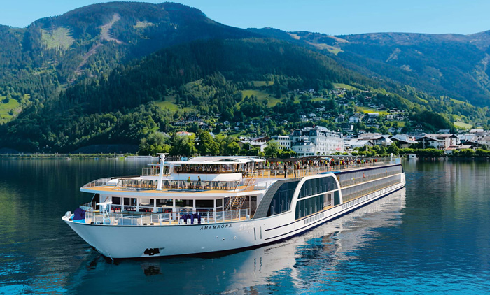 AmaWaterways' biggest cruise ship sails on the Danube