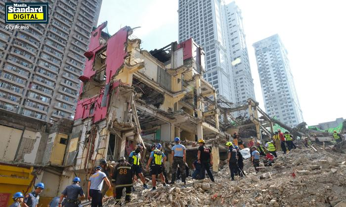 2 dead, 1 hurt in Hotel Sogo collapse