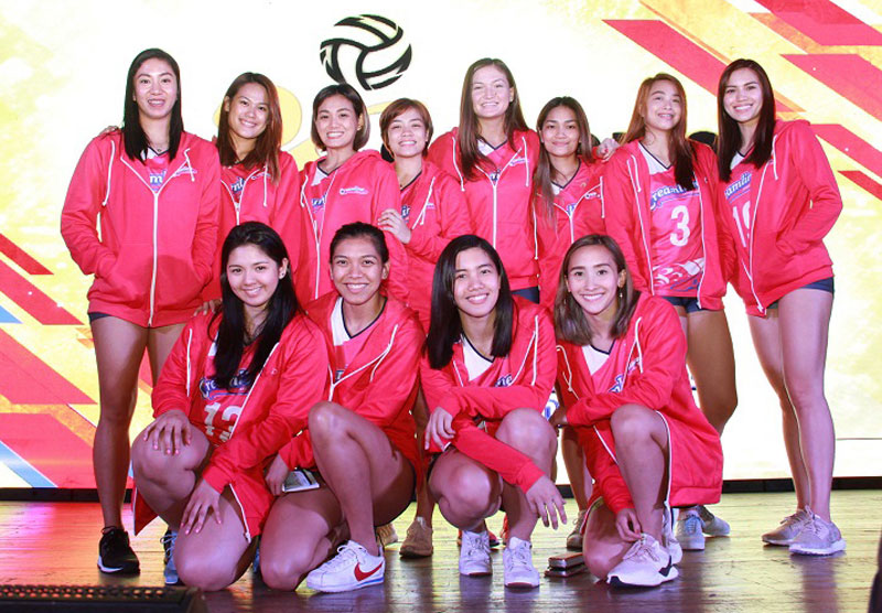 Members of the Creamline Cool Smashers