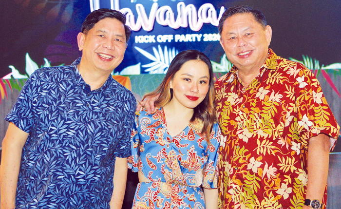 From left: EBCI chief operating officer Siliman Sy, sales and marketing director Denice Sy, and chief executive officer Dioceldo Sy