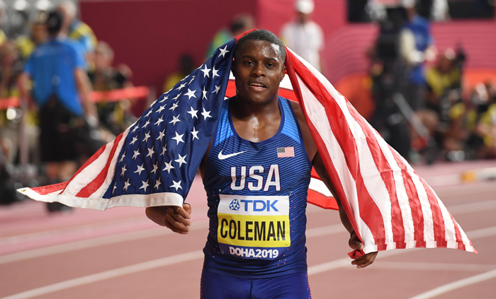 World 100m champion Coleman suspended over new missed test