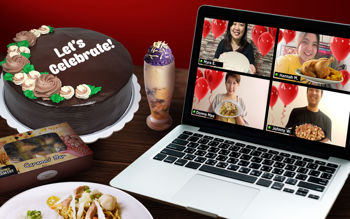 Max's  E-Party bundle caters to virtual parties and conferences, delivering food and party favors to guests in different locations.