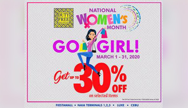 Duty Free Philippines celebrates women with month-long SALE