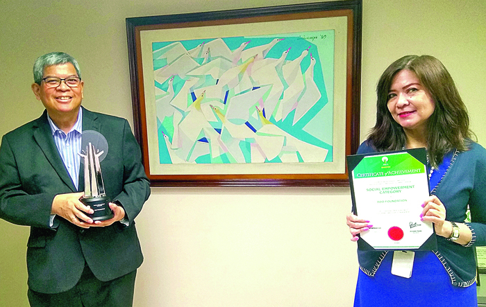 BDO gets award for OFW program