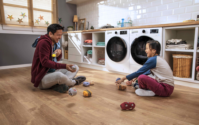 Washers that clean and care