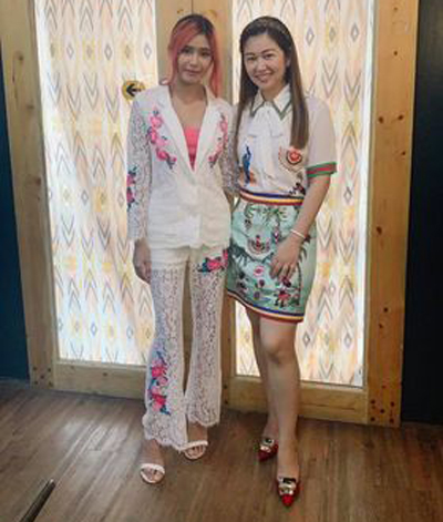 Myrtle with Megasoft's executive Aileen Choi Go