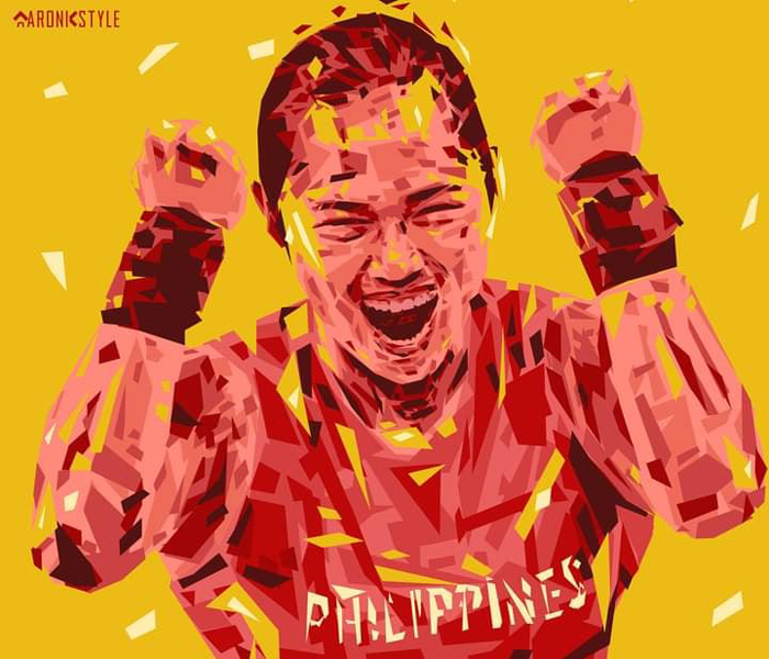 Local artists pay tribute to Hidilyn Diaz's Olympic win