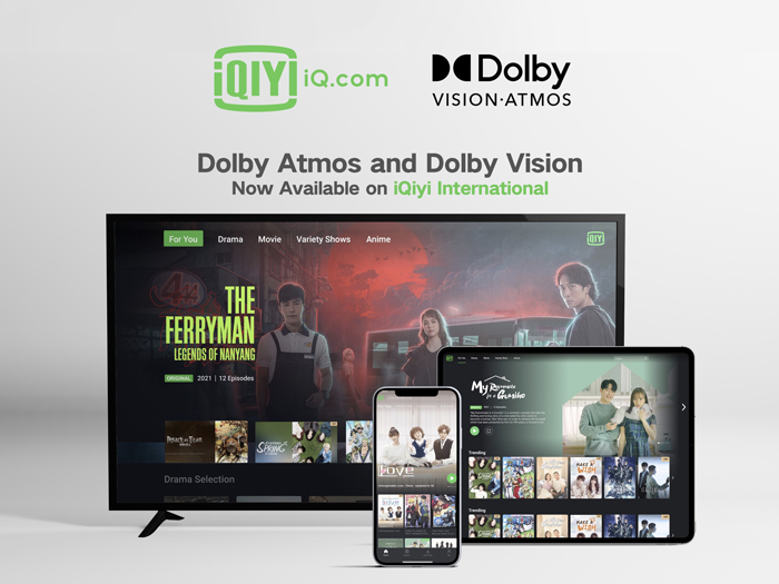 iQiyi deepens international partnership with Dolby Dolby Vision and Dolby Atmos now available on iQiyi's international app