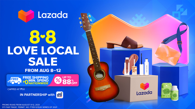 Lazada Philippines partners with the Department of Trade and Industry to showcase local brands and products at the e-commerce platform's 8.8 Love Local Sale.