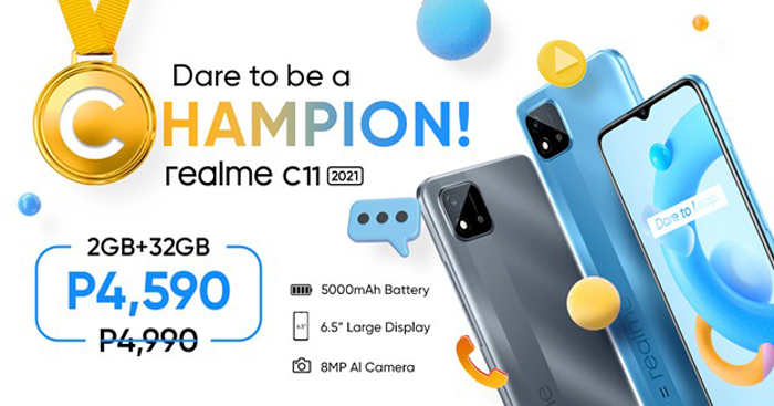 realme C11 2021, now only P4,590!
