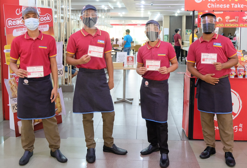 Fully vaccinated Chowking team.