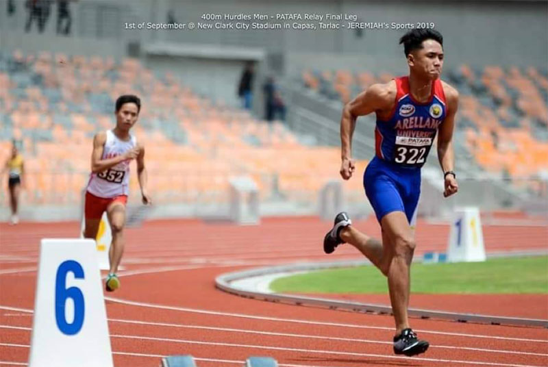 Carl Lewis Rendon in action at the CLRAA