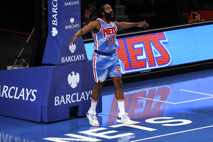 Harden posts triple double in NBA debut with Brooklyn Nets