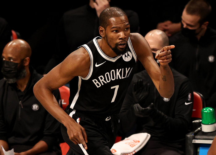 Durant scores 31 as Nets hold on to beat shorthanded Heat