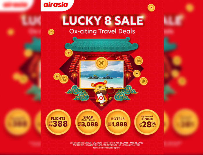 Ox-citing Chinese New Year travel deals with AirAsia's Lucky 8 Sale