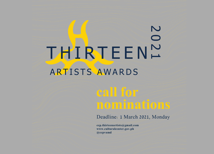 Call for nominations for CCP 13 Artists Awards 2021