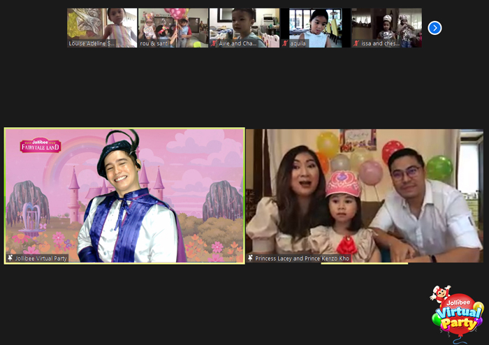 Scarlet Snow shares the joy with a Jollibee Virtual Party for her cousin Lacey