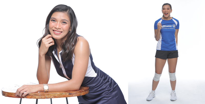 TRAINED AND PREPARED.  Volleyball star Alyssa Valdez, 28, encourages young people to plan for their future so they can face any change or challenge confidently.