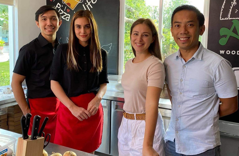 From left: Nico Antonio and co-star Max Collins with couple Anna and Eric