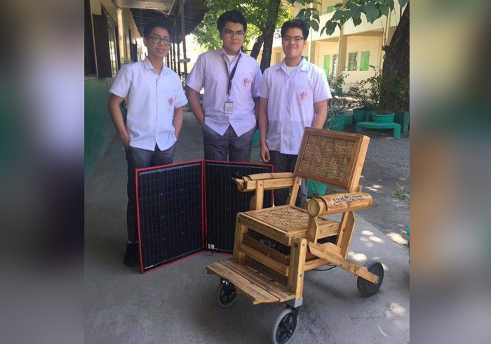 JuanWheel: Solar-powered bamboo wheelchair for PWDs