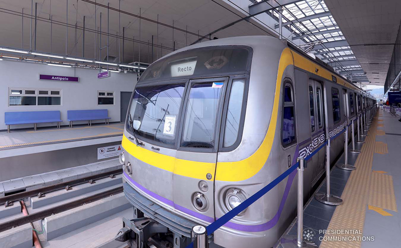 The newly-built LRT Line 2 East Extension project  in Antipolo City, Rizal