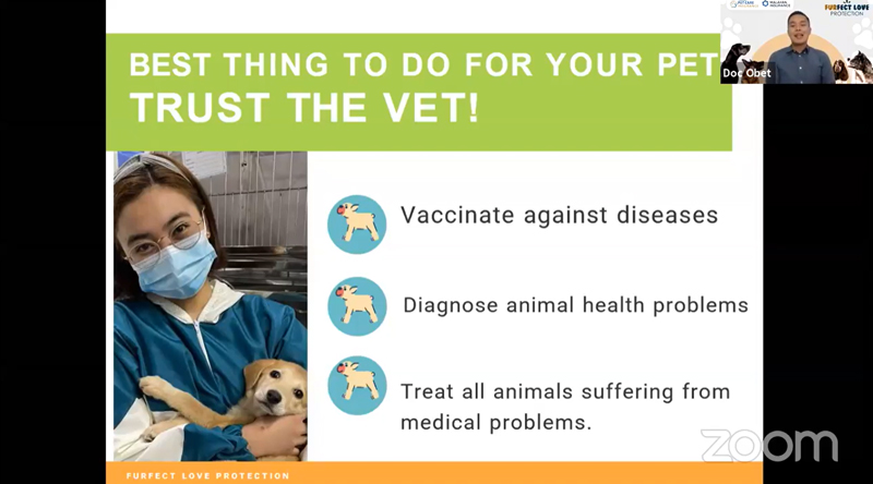 Veterinarian Dr. Norbert Robles encourages pet owners to 'trust the vet' especially on their pets' healthcare needs.