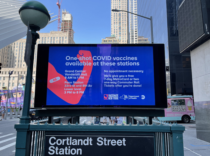 NYC orders COVID-19 shots or weekly tests for all public workers