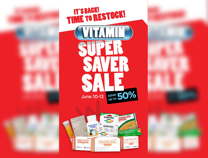 Watsons to hold another 3-day Vitamins Super Saver Sale