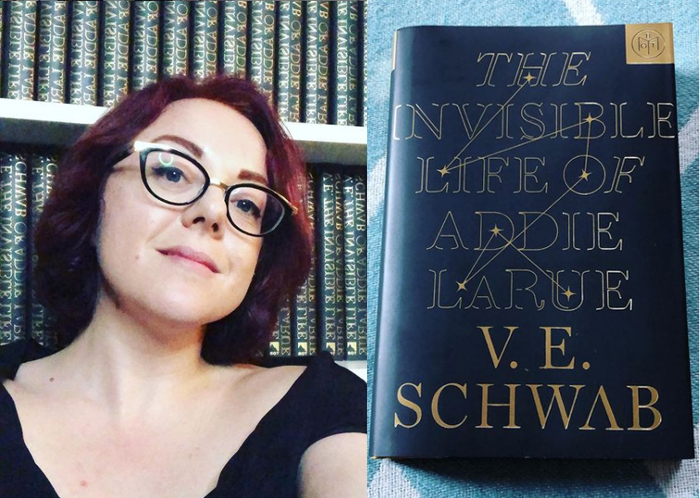 Follow the 300-year life of Addie Larue in Victoria Schwab's (inset) novel  'The Invisible Life of Addie Larue'. (Photos from @veschwab/Instagram)