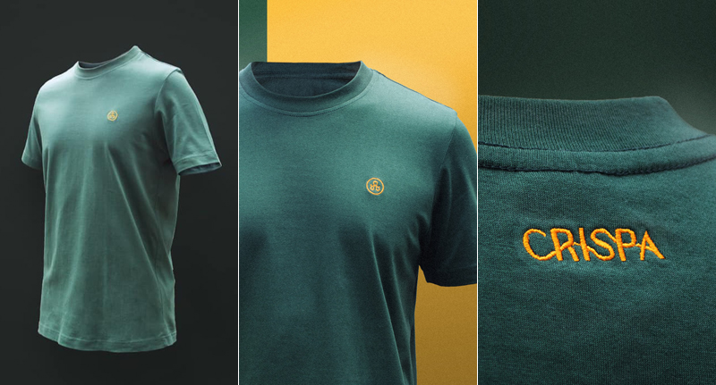 CLASSIC CRISPA.  Renzo Floro Herbosa, grandson of Crispa founder Danny Floro, revives the iconic T-shirt brand with a limited edition Crispa T-shirt in green.