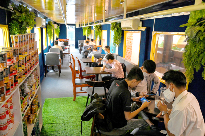 All aboard the Cambodian cafe train to nowhere