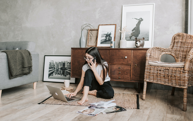 Poor posture and body positions, common in work-from-home setups, may cause muscle spasms that can result in tension headaches.