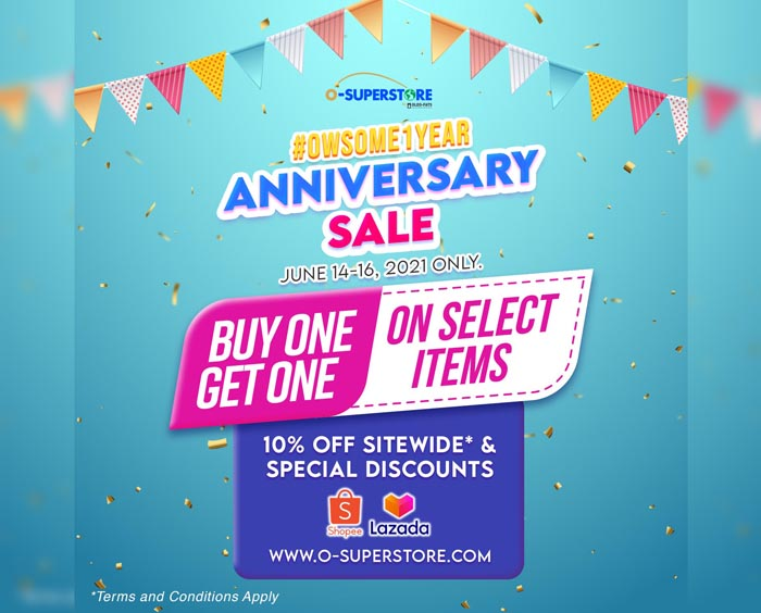 O-Superstore celebrates first year with anniversary sale