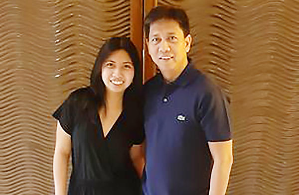 Marie Dominic Castillo with her father