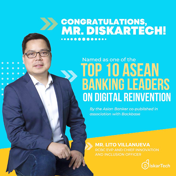 RCBC chief innovation and inclusion officer Lito Villanueva (From DiskarTech's Facebook page)
