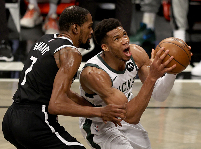 Antetokounmpo outduels Durant as Bucks oust Nets to reach East finals