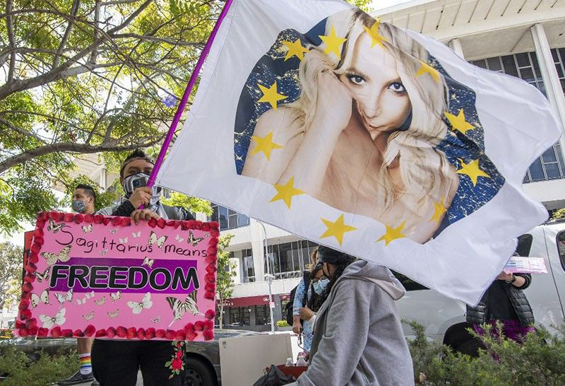 """Some adoring Britney Spears fans have launched a """"FreeBritney"""" online campaign."""
