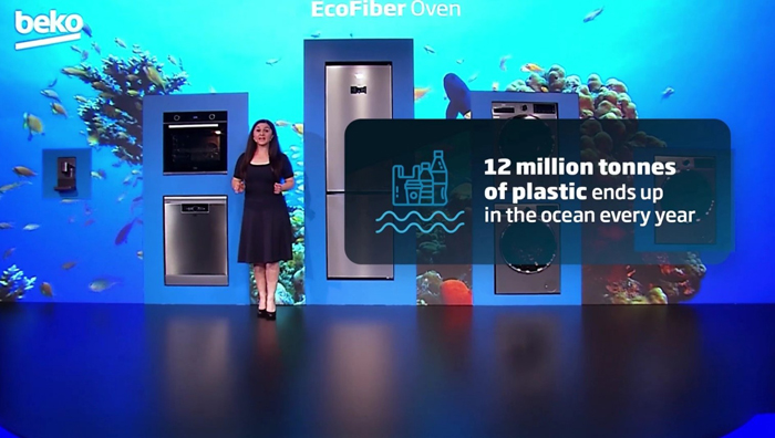 Beko's innovative new products use recycled materials, bio-composites, detergent saving technologies