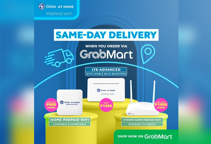 Shopping: GrabMart delivers Globe at Home products