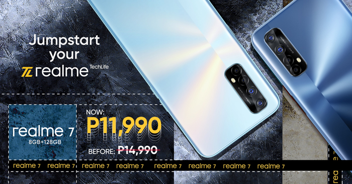 realme 7 retail price slashed, now at P11,990