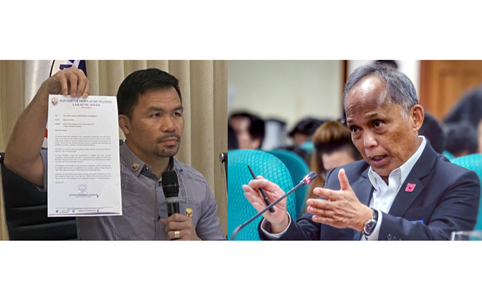 Ruling party leaders Pacquiao, Cusi feud over choice of bets