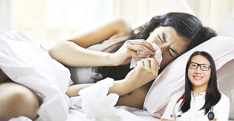 Dr. Gwen Agra (inset) explains the various triggers for cough, which include irritants, allergies and asthma, chronic obstructive pulmonary disorder, viruses, and others.