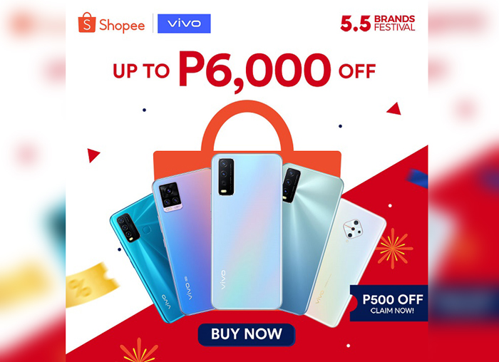 Huge discounts for vivo smartphones; vouchers, special prizes are up for grabs at Shopee 5.5 Sale
