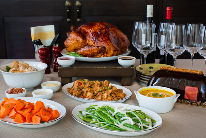 The Western Set Menu B comes with a roasted butterball turkey with vegetable sides, caesar salad, and a whole Florentine signature chocolate.