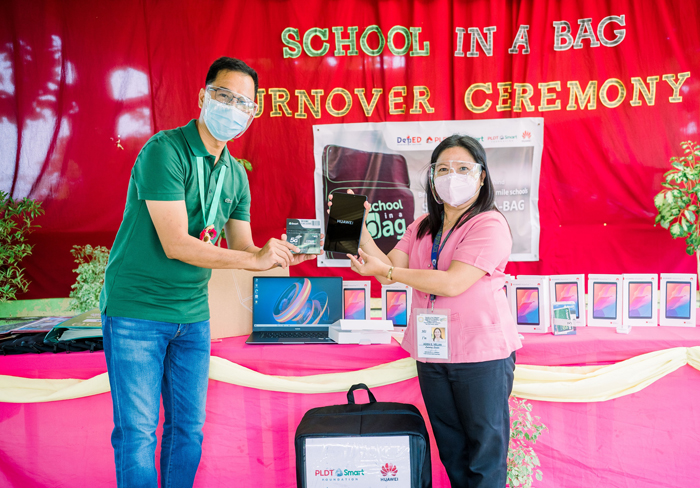 Huawei's School-in-a-Bag donation to boost Quezon coastal community
