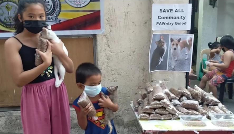 The Save ALL community pawntry in Barangay Gulod, Novaliches, Quezoon City.